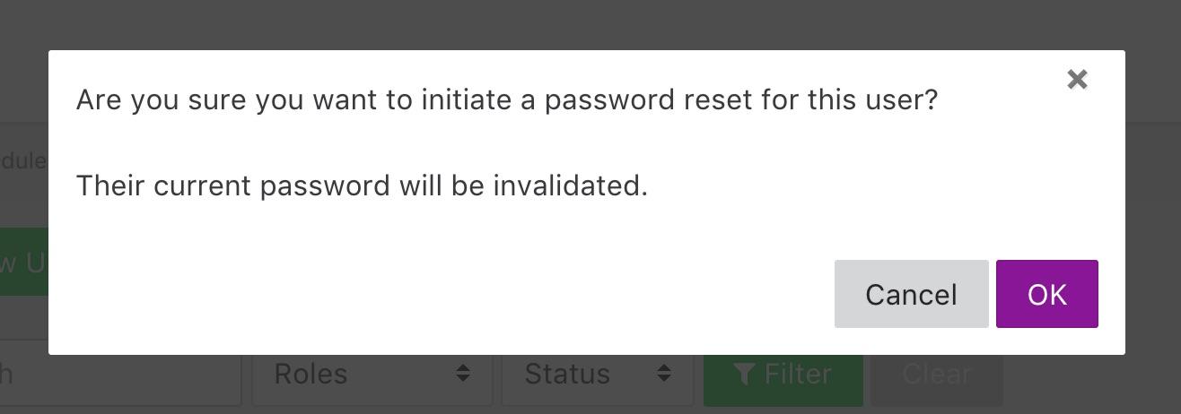 Reset User